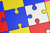 Puzzle Connection Logical Intelligence Concept — Stock Photo