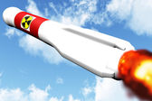 Nuclear Rocket on Target — Stock Photo