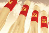 Nuclear Rockets on Standby — Stock Photo