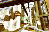 Futuristic City Transportation — Stock Photo