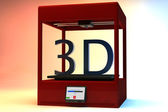 3D Printer Machine Three Dimensional Printing Technology 3D render — Stockfoto