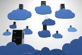Cloud Servers Computing Creative Concept — Stock Photo