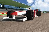 Formula 1 - Indy Race Type Car on Race Course — Stock Photo