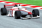 Formula 1 - Indy Race Type Car on Race Course — Stock Photo