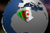 Algeria Country Map on Continent — Foto de Stock