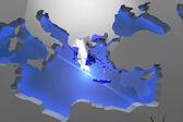 Mapa de Grecia país continente — Foto de Stock
