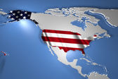 United States of America Country Map on Continent 3D Illustration — Stock Photo