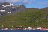 Wioska rybacka norweski — Zdjęcie stockowe