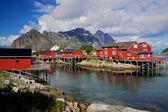 Cabanes de pêcheurs rorbu — Photo