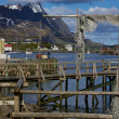 Wooden pier in Reine — Stock Photo