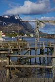 Drewniane molo w reine — Zdjęcie stockowe