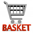Basket sign — Stock Photo