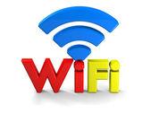 Barevné wifi symbol — Stock fotografie