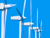 Wind farm generators — Stock Photo