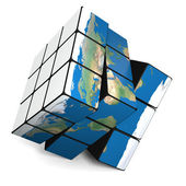 Earth cube — Stock Photo
