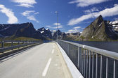Bridge on Lofoten — Stock Photo