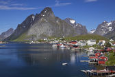 Town of Reine on Lofoten — Stok fotoğraf