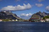 Porto de pesca em lofoten — Fotografia Stock