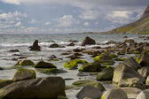 Boulders on the beach — Stock Photo