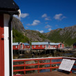 Stock Photo: Norwegifishing village