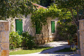 House yard in Croatia — Stock Photo