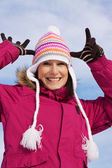 Winter funny faces — Stock Photo