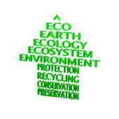 Eco arrow — Stock Photo