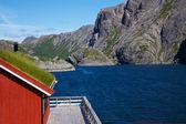 Traditionelle norwegische fischerei-haus — Stockfoto