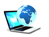 Internet on laptop — Stock Photo