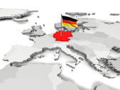 Germany an map of Europe — Stock Photo