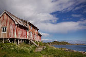 Old decaying fishing house — Stock Photo