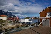 Porto di pesca su lofoten — Foto Stock