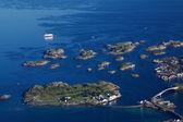 Круизный корабль на Лофотенских островах — Стоковое фото
