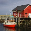 Norwegian fishing dock — Stock Photo