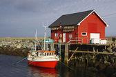 норвежский рыбалка док — Стоковое фото