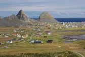 Pittoresca cittadina della norvegia — Foto Stock