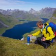 Lofoten mountaineering — Stock Photo #19146897