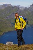 Hiking in Scandinavia — Stok fotoğraf
