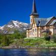 Lofoten cathedral in Norway — Stock Photo