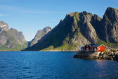 House by fjord — Stock Photo