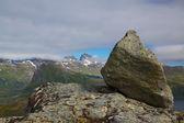Rock on summit — Stock Photo