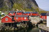 Scenic fishing huts — Stockfoto