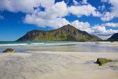 живописный пляж в норвегии — Стоковое фото