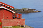 Picturesque fishing hut — Stock Photo