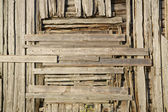 Old wooden facade — Stock Photo