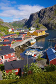 Picturesque village of Nusfjord on Lofoten islands, Norway, popular tourist destination — Stock Photo