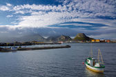 Norwegian fishing port — Stock Photo