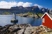 Norwegian bridge — Stock Photo