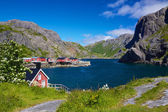 Fishing village Nusfjord — Stock Photo