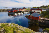 Fishing village in Norway — Stock Photo